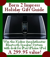 Win the Kicker Amphitheater Bluetooth Speaker System in the Born2Impress Holiday Gift Guide